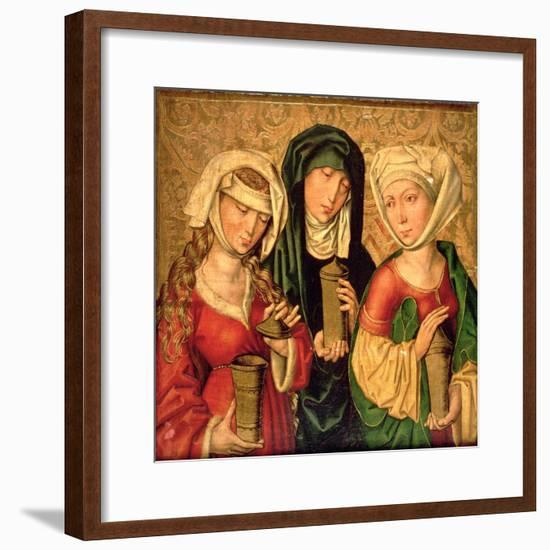The Three Marys on Gold Ground Panels-Michael Wolgemut Or Wolgemuth-Framed Giclee Print