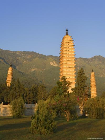 The Three Pagodas, Dali Old Town, Yunnan Province, China-Jochen Schlenker-Photographic Print