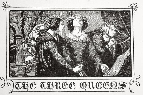 The Three Queens', 1905-Dora Curtis-Giclee Print