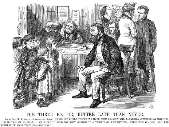 The Three R's or Better Late Than Never, 1870-John Tenniel-Giclee Print