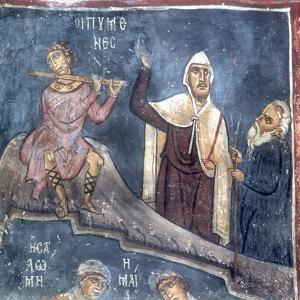 The Three Shepherds, Detail from the Nativity