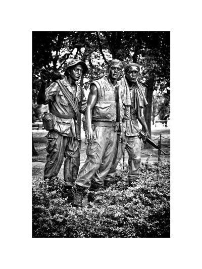 """""""The Three Soldiers"""" Bronze by Frederik Hart at the Vietnam Memorial, Washington D.C, White Frame-Philippe Hugonnard-Photographic Print"""