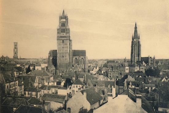'The three Towers (the Belfry, the Cathedral and our Lady's Church)', c1910-Unknown-Photographic Print
