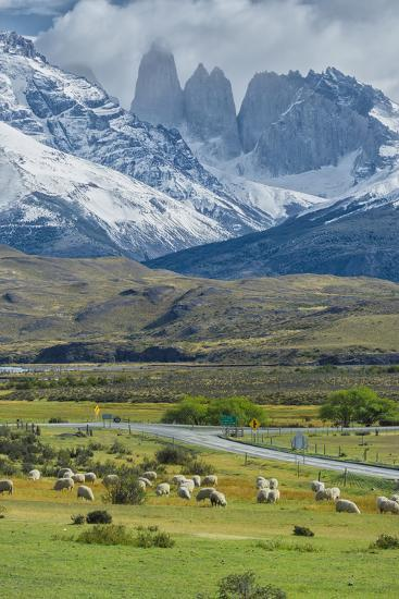 The Three Towers, Torres Del Paine National Park, Chilean Patagonia, Chile-G & M Therin-Weise-Photographic Print