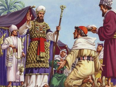 """The Three Wise Men Asking Herod """"Where Is the Babe Who Is Born to Be King of the Jews?""""-Pat Nicolle-Giclee Print"""
