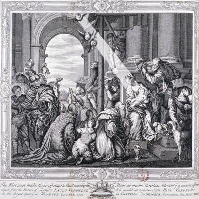 The Three Wise Men Make their Offerings to Christ and Worship Him, 1733-Paolo Veronese-Giclee Print