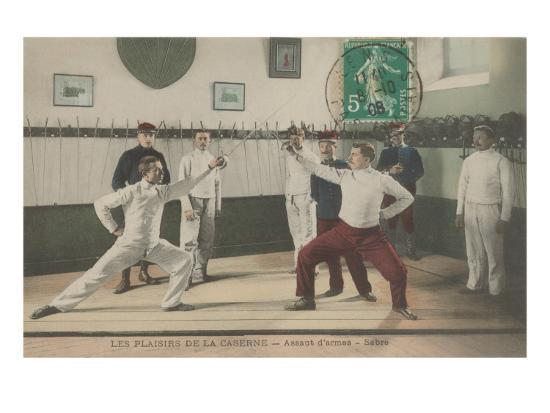 The Thrill of the Chase, Fencing Art Print by | Art com
