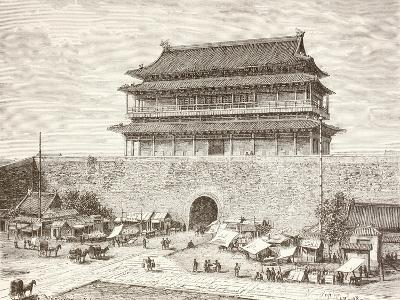 The Tiananmen Gate in Peking in the 1880S--Giclee Print