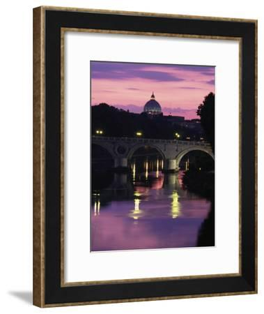 The Tiber River and the Dome of St-Richard Nowitz-Framed Photographic Print