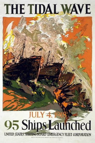 The Tidal Wave, 1918--Giclee Print