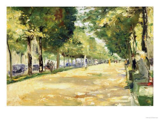 The Tiergarten Park, Berlin-Lesser Ury-Giclee Print