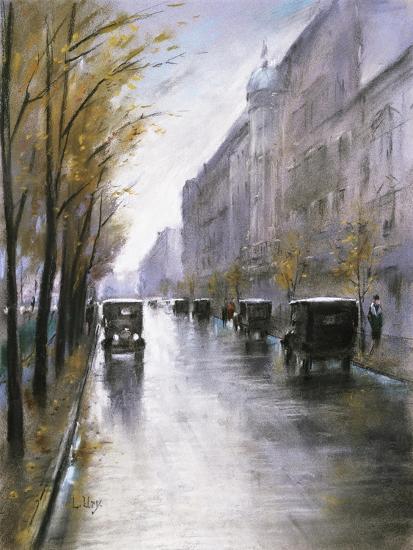 The Tiergartenstrasse, Berlin-Lesser Ury-Giclee Print