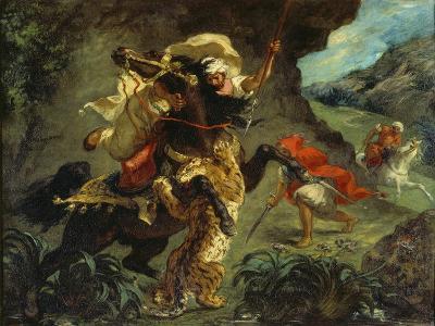 The Tiger Hunt, 1854-Eugene Delacroix-Giclee Print