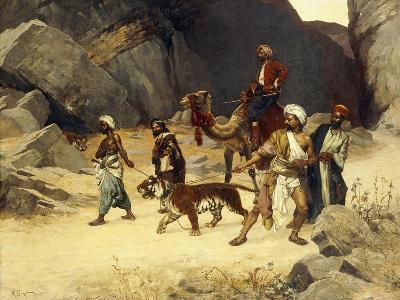 The Tiger Hunt, 1896-Rudolphe Ernst-Giclee Print