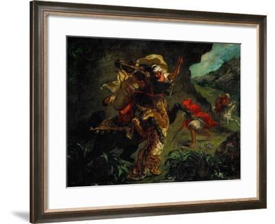 The Tiger Hunt-Eugene Delacroix-Framed Giclee Print
