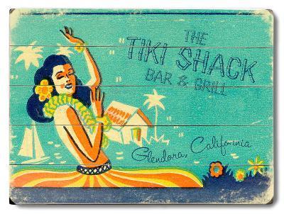 The Tiki Shack--Wood Sign