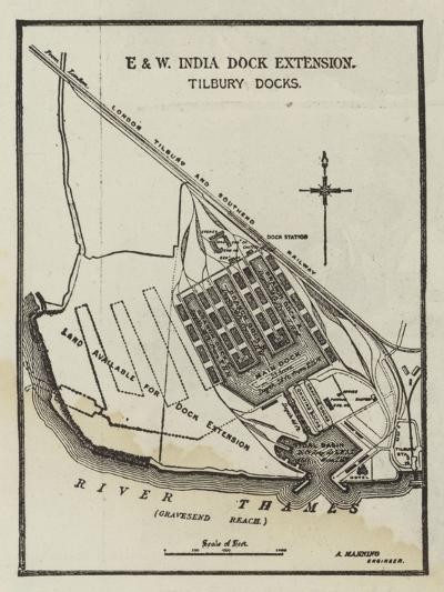 The Tilbury Deep-Water Docks--Giclee Print