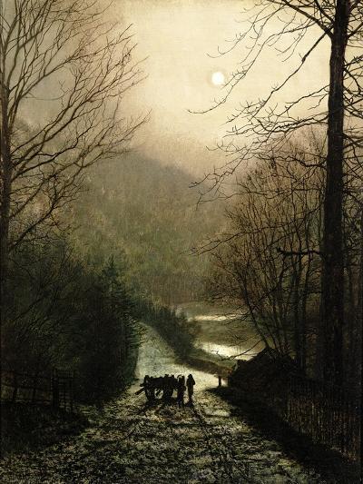 The Timber Waggon-John Atkinson Grimshaw-Giclee Print