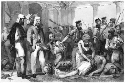 The Times Correspondent Looking on at the Sacking of the Kaiser Bagh, 1858--Giclee Print