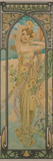 The Times of the Day: Brightness of Day, 1899-Alphonse Mucha-Giclee Print