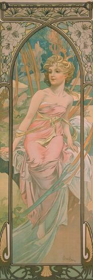 The Times of the Day: Morning Awakening, 1899-Alphonse Mucha-Giclee Print