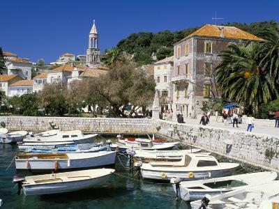 The Tiny Inner Harbour, Hvar Town, Croatia-Michael Short-Photographic Print