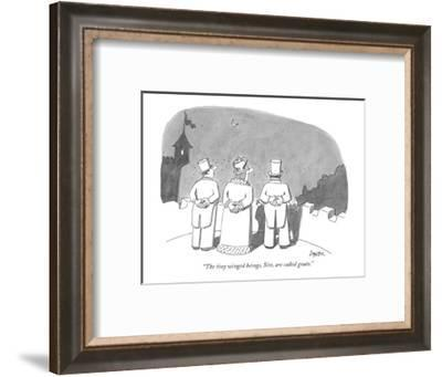 """""""The tiny winged beings, Sire, are called gnats."""" - New Yorker Cartoon-Jack Ziegler-Framed Premium Giclee Print"""