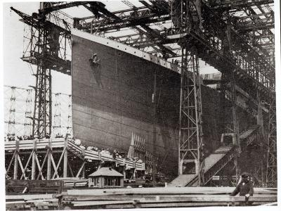 The Titanic in Belfast Dock, 1911--Photographic Print