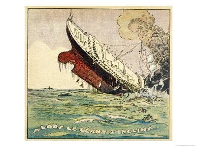 The Titanic Sinks, Seemingly in Daylight!- Jeunesse-Giclee Print