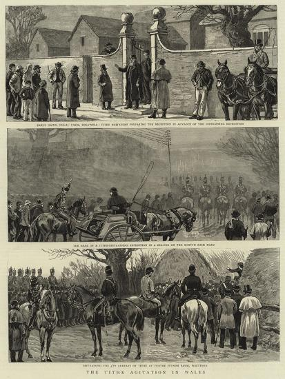 The Tithe Agitation in Wales--Giclee Print