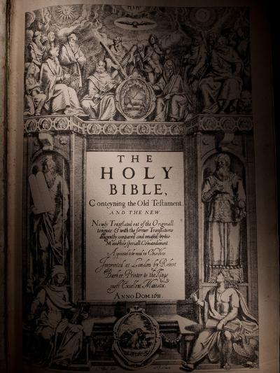 The Title Page of an Original King James Bible Dating from 1611-Jim Richardson-Photographic Print