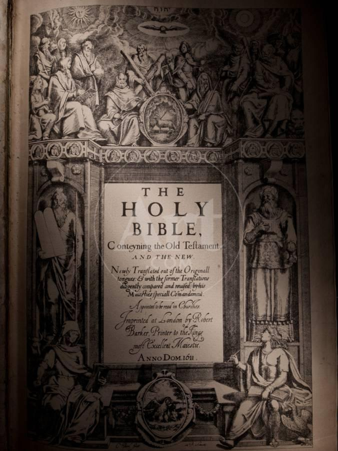The Title Page of an Original King James Bible Dating from 1611  Photographic Print by Jim Richardson   Art com