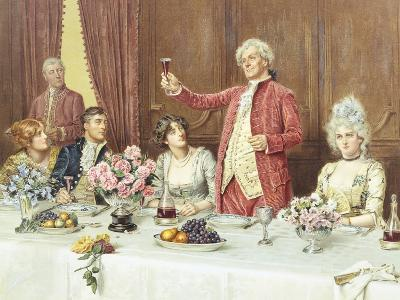 The Toast, the Ladies, God Bless 'Em-George Goodwin Kilburne-Giclee Print