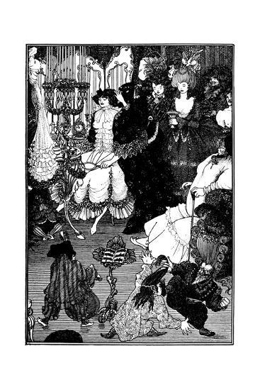 The Toilet of Helen-Aubrey Beardsley-Giclee Print