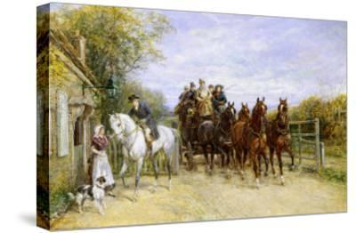 The Toll Gate-Heywood Hardy-Stretched Canvas Print