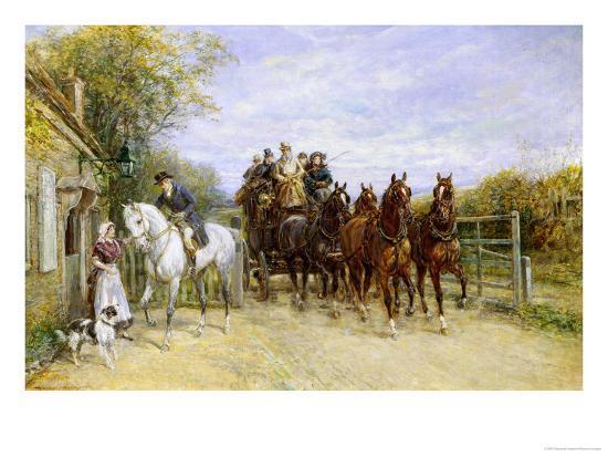 The Toll Gate-Heywood Hardy-Giclee Print