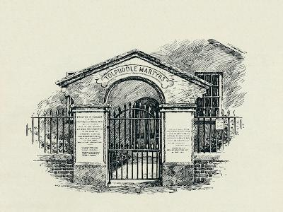 The Tolpuddle Memorial at the Tolpuddle Methodist Chapel, 1934--Giclee Print