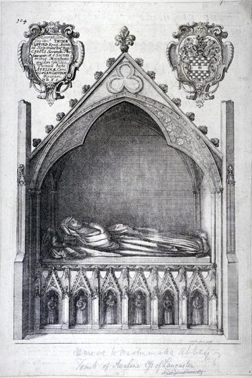 The Tomb of Avaline, Countess of Lancaster, Westminster Abbey, London, 1666-Wenceslaus Hollar-Giclee Print