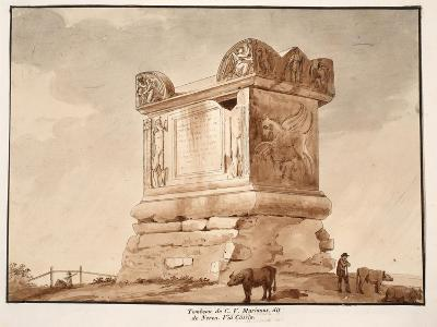 The Tomb of C.V. Marianus, also known as Nero's Tomb. Via Cassia, 1833-Agostino Tofanelli-Giclee Print