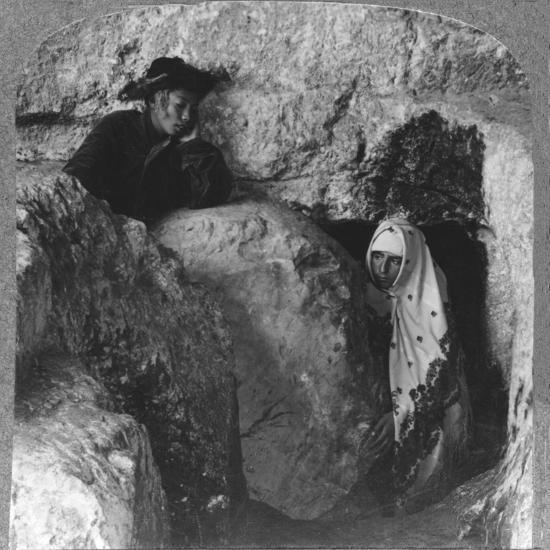 'The Tomb of Christ, showing the Stone, Rolled Away, c1900-Unknown-Photographic Print