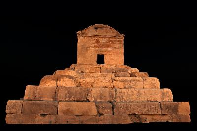 The Tomb of Cyrus the Great, in Pasargadae, at Night-Babak Tafreshi-Photographic Print
