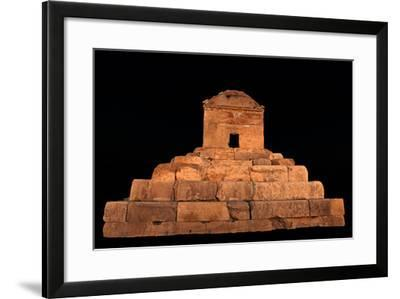 The Tomb of Cyrus the Great, in Pasargadae, at Night-Babak Tafreshi-Framed Photographic Print