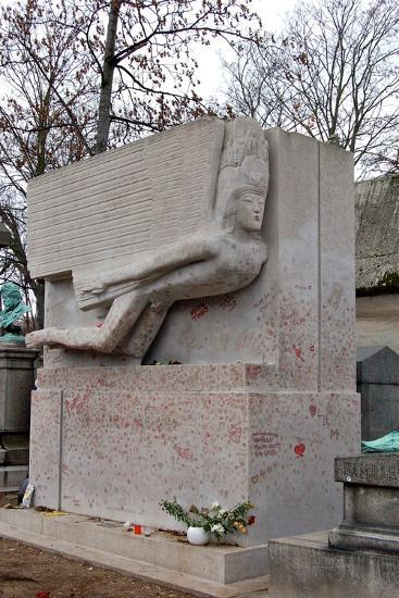 The Tomb of Oscar Wilde, P?re Lachaise Cemetery, Paris, France--Photographic Print