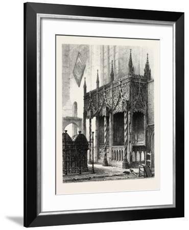 The Tomb of the Howards at Arundel Church, UK., 19th Century--Framed Giclee Print