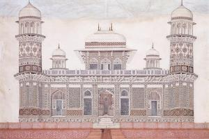 The Tomb of the Itmad-Ud-Daula, C.1815 (Encil, Pen and Black Ink, W/C, Heightened with Touches O)