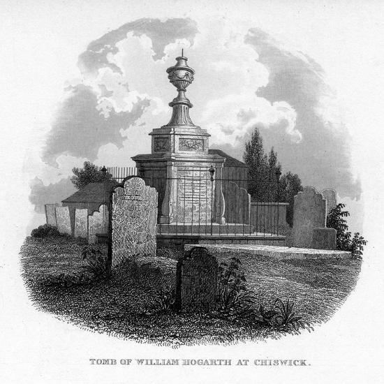 The Tomb of William Hogarth at Chiswick, 1840--Giclee Print
