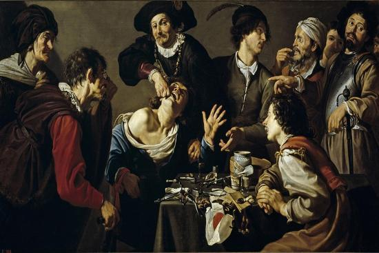 The Tooth Extractor, 1620-1625-Theodoor Rombouts-Giclee Print