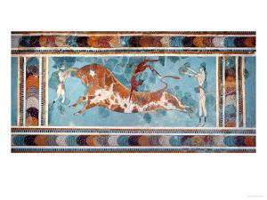 The Toreador Fresco, Knossos Palace, Crete, circa 1500 BC