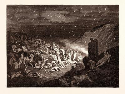 The Torture of the Fiery Rain-Gustave Dore-Giclee Print