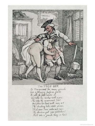The Toss Off, Poem and Illustrations, 1808-1817-Thomas Rowlandson-Giclee Print
